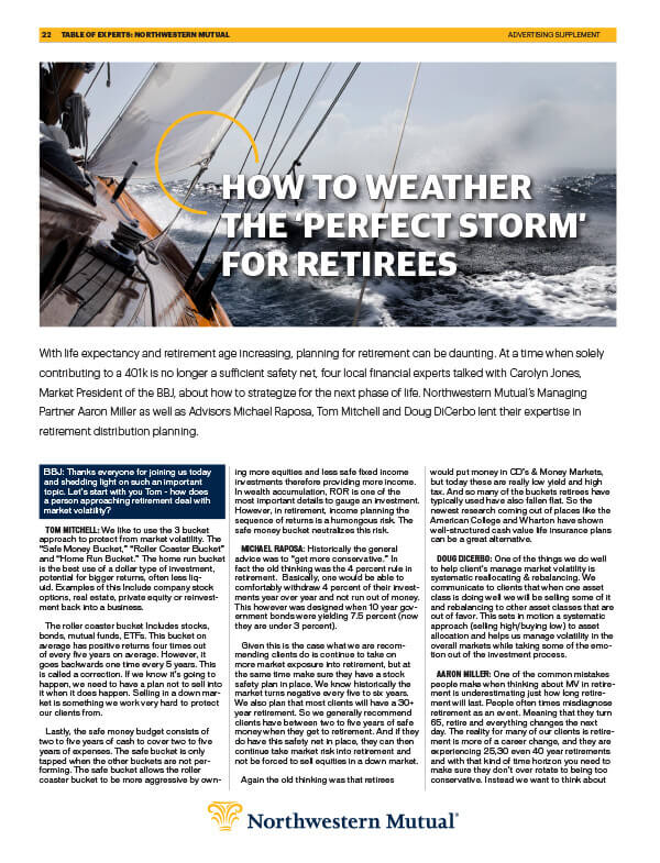 How To Weather The Perfect Storm For Retirees Article